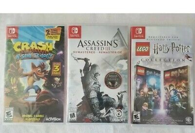 "$140 • Buy Lot Of (3)  Nintendo Switch Games"" Brand New!!  Free Shipping!!"