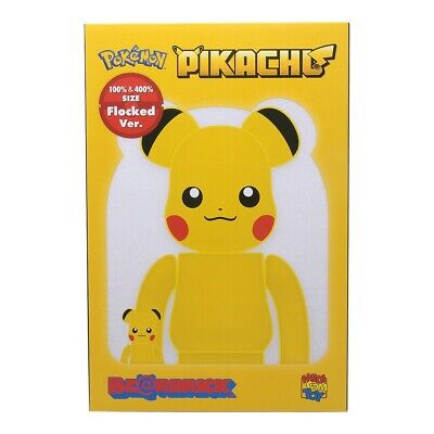 $500 • Buy Medicom BE@RBRICK Pikachu Flocky Ver. 100% 400% Bearbrick Figure Set