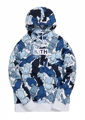 $400 • Buy KITH X Bearbrick Pattern Hoodie Multicolor SS19 NWT Sz XS