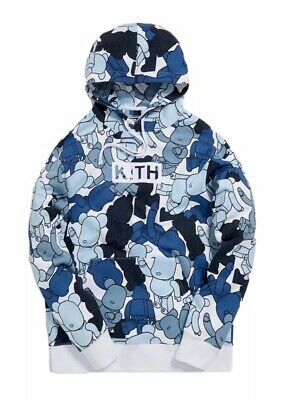 $400 • Buy KITH X Bearbrick Pattern Hoodie Multicolor SS19 NWT Sz L