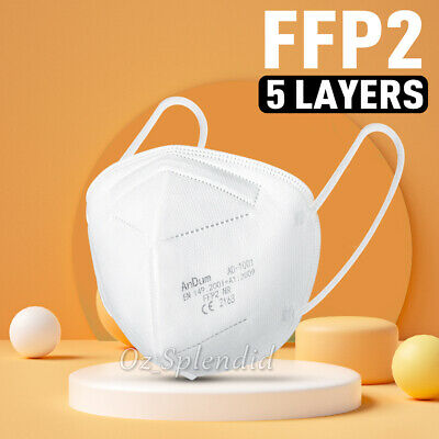 AU3.95 • Buy Unisex Face Mask 5 Layer Mouth Masks Anti Bacterial Filter SYD 24HR DISPATCH