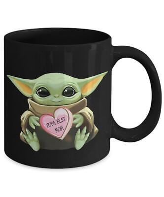 $14.99 • Buy Baby Yoda Best Mom Black Coffee Mug For Mom, Gift For Mom, Mom Gifts For Sister