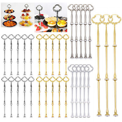 £9.49 • Buy Pack Cake Stand Fittings 2/3 Tier Cupcake Plate Rack Handle Rod Wedding Party