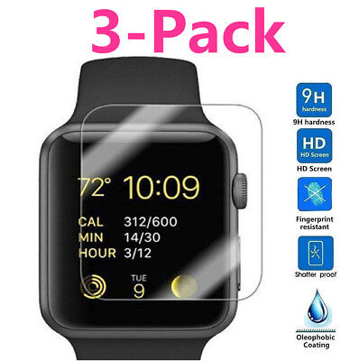 $ CDN2.91 • Buy For Apple Watch Series 3 42mm Tempered Glass Screen Protector Guard Shield Saver