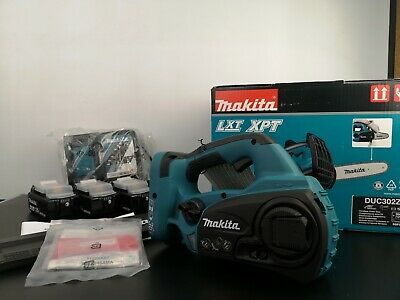View Details Makita DUC302Z Twin 18V 36V LXT Cordless Lithium Ion Chainsaw 4x 4.0ah Batteries • 325.00£