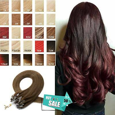 0.5-1g Premium Russian Remy Micro Loop Beautiful Seamlees Weft Hair Extensions • 23.71£