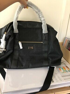 AU120 • Buy OROTON - Stencil  / Large Overnighter - Black Jacq. New With Tags.
