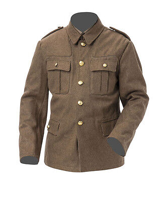 WW1 British Army Tunic For Pattern 02 Uniform 42 Chest Size Large • 109£