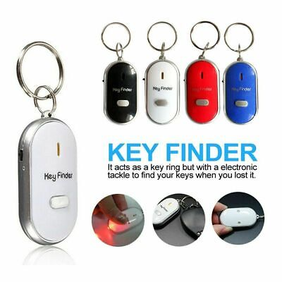 Anti Lost LED Key Finder Locator Keychain Whistle Sound Control Keyring Tracker • 2.99£