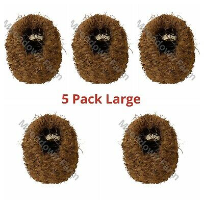 £12.85 • Buy 5 X Finch Nest Wicker Coco Box With Hooks To Back For Exotic Finch Cage /Aviary