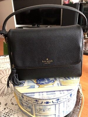 $ CDN219.88 • Buy NWT KATE SPADE Miri Chester Street Black Satchel Crossbody Leather WKRU4076