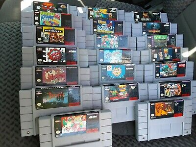 $ CDN204.49 • Buy Super Nintendo SNES 20 Game Lot Cleaned Tested Rare Street Fighter Mortal Kombat