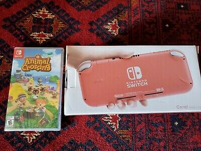 $ CDN528.84 • Buy Nintendo Switch Lite - Coral / Pink With Animal Crossing - New - Ready To Ship
