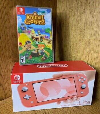 $ CDN521.78 • Buy Nintendo Switch Lite Coral Switch Bundle With Animal Crossing New Horizons Pink