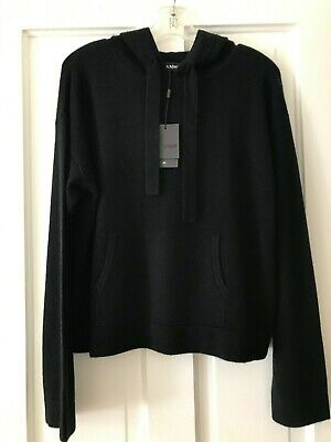 $138.66 • Buy Naadam Black Cashmere Tracksuit Hoodie Sweater Sz. L NWT