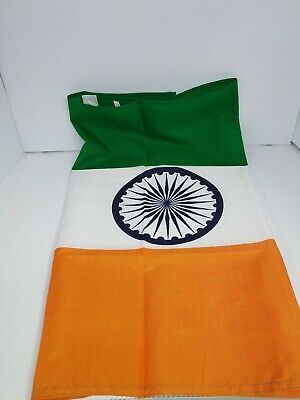 $6.40 • Buy 2x3 India Flag Indian Banner Country Pennant Indoor Outdoor 24x36 Inch New