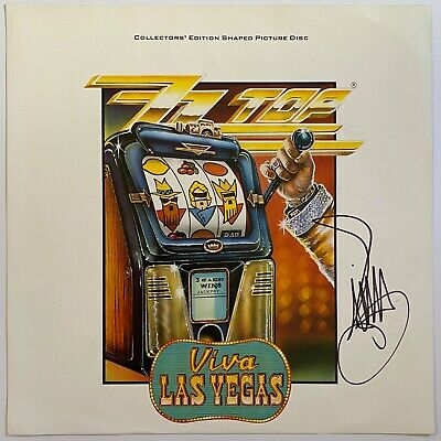 BILLY GIBBONS HAND SIGNED 12x12 PHOTO - ZZ TOP - VIVA LAS VEGAS - AUTOGRAPH. • 99.99£