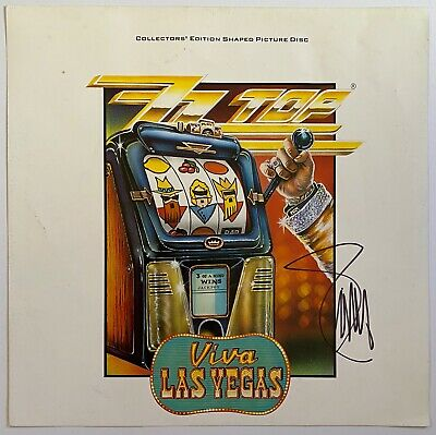 BILLY GIBBONS HAND SIGNED 12x12 PHOTO - ZZ TOP - VIVA LAS VEGAS - AUTOGRAPH 1. • 99.99£