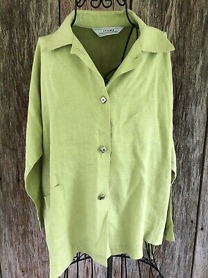 $28 • Buy ITEMZ By Chris Baumgartner Oversized Lagenlook Blouse One Size Fits Most