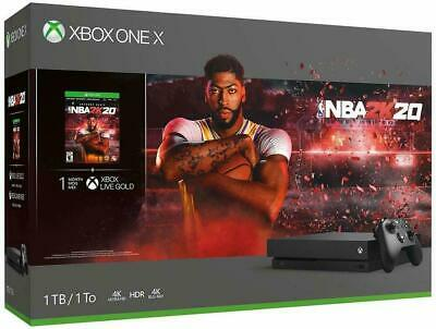 $368.68 • Buy New Sealed Microsoft Xbox One X 1TB NBA 2K20 Bundle Black 4K Blu-ray Ship Fast
