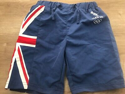New TEAM GB Boys Blue Red And White Swim Trunks NEW Age 3-4 With Packaging   • 3.99£