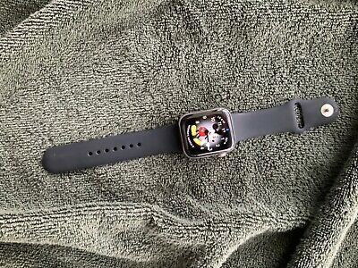 $ CDN601.08 • Buy Apple Watch - Series 4 - Stainless Steel Case - Black Sports Band & APPLE CARE