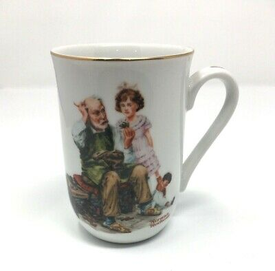 $ CDN12.41 • Buy Norman Rockwell 1982 Museum Collectible Cup Mug The Cobbler Made In Japan