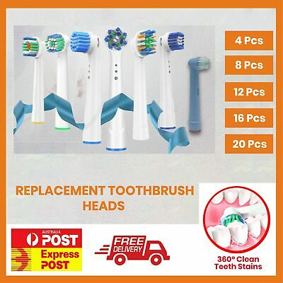 AU5.51 • Buy 🔥🔥 Electric Toothbrush Heads Oral B Compatible Replacement Brush Clean White