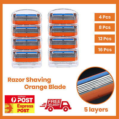 AU21.52 • Buy 16X 5 Blades For Gillette Fusion Razor Shaving Shaver Trimmer Refills Cartridges