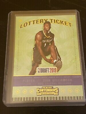 $39.99 • Buy 19 20 Panini Contenders Rookie Draft Lottery Ticket Zion Williamson RC No. 1