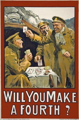 £27.08 • Buy 84326 Vintage Will You Make A Fourth Irish Recruiting Decor LAMINATED POSTER AU