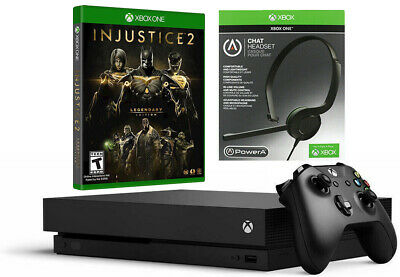 $279.95 • Buy Xbox One X 1TB 4K With Injustice 2 Legendary Edition And PowerA Headset Bundle
