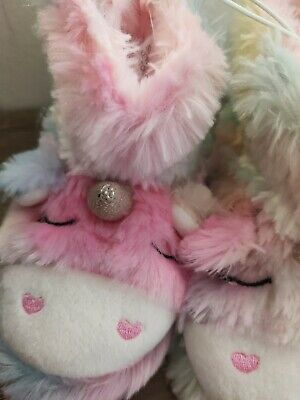 AU10 • Buy  Unicorn Rain Bow  Slipper Boots  Sizes 3 Or 4   First Walkers