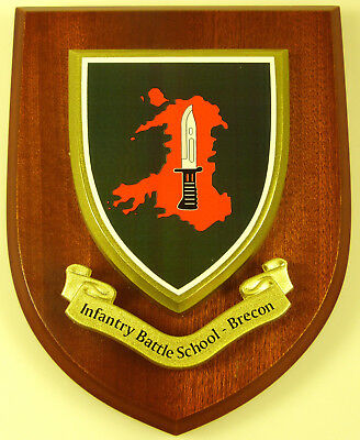 British Army Infantry Battle School Brecon Hand Made Regimental Mess Plaque • 19.99£