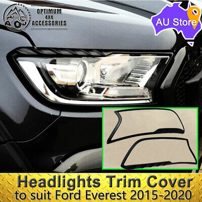 AU42.75 • Buy Matte Black Headlights Trim Cover To Suit Ford Everest 2015-2021