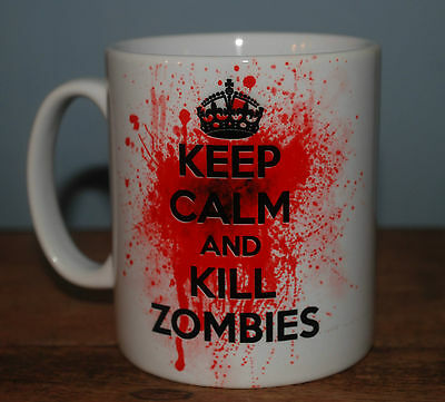 £8.99 • Buy New Keep Calm And Kill Zombies Mug Cup Gift Zombie Lover Present Fan Kill Undead