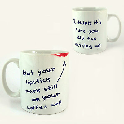 £8.99 • Buy Lipstick Mark Still On Your Coffee Cup Mug Take That Gary Barlow Back For Good