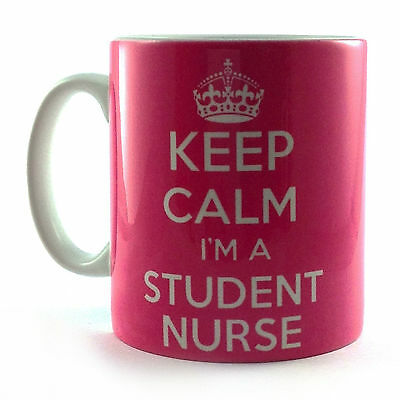 £8.99 • Buy Brand New Keep Calm I'm A Student Nurse Pink Gift Mug Cup And Carry On Retro