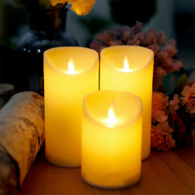 Electronic Candles Lights Frameless Smokeless Candle Battery Operated Decor • 5.95£