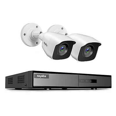 SANNCE CCTV System 1080P 4CH 5IN1 DVR 3000TVL Outdoor Camera Home Security IP66 • 95.99£