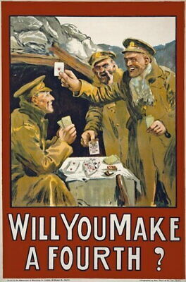 £29.15 • Buy 84326 Vintage Will You Make A Fourth Irish Recruiting Decor LAMINATED POSTER DE