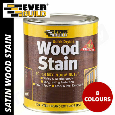 £13.75 • Buy Everbuild Wood Stain Indoor And Outdoor Quick Drying 750ml - 8 Colours