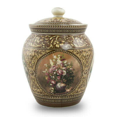 $54.95 • Buy Victorian Filigree Ceramic Ceramic Urns - Small  Brown