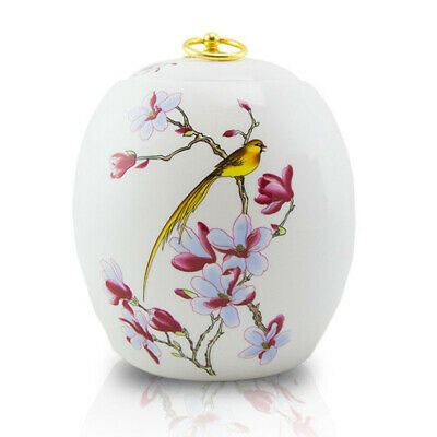 $59.95 • Buy Golden Bird Ceramic Cremation Urn For Ashes - Large  White
