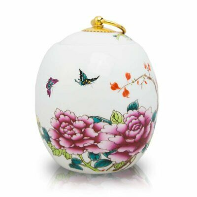 $77.95 • Buy Butterfly Ceramic Cremation Urn For Ashes - Large  White