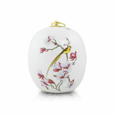 $27.95 • Buy Golden Bird Ceramic Cremation Urn For Ashes -   White