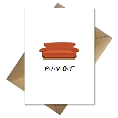 Funny Friends New Home Card - Blank For Any Occasion PIVOT! TV 90s • 2.95£