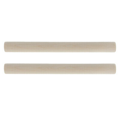 2x Wooden Polished Rhythm Sticks Drum Percussion Beat Musical Toys Accessory • 4.29£