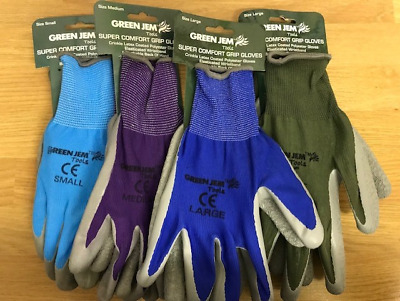 Super Comfort Ladies Mens Gardening Gloves Grip Gloves Latex Breathable 3 Sizes • 3.50£