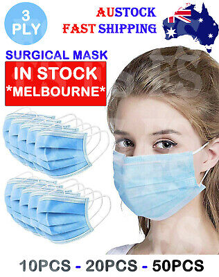 AU22.95 • Buy Medical Face Mask Mouth Masks Surgical Grade Disposable 3 Ply Ce Certified